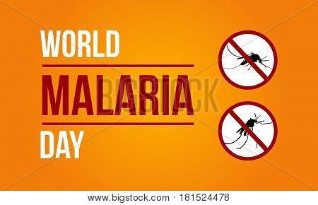 World Malaria Day Sign Vector Art Illustration