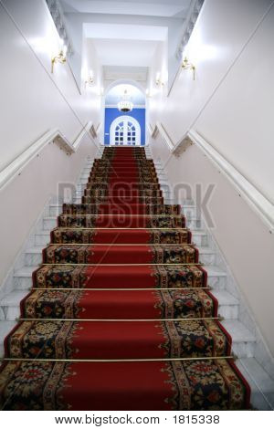 Treppe im Inneren des Gebäudes