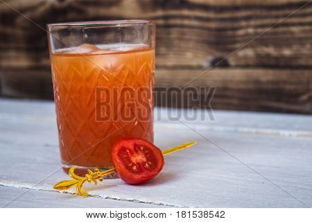 Bloody Mary With Lemon And Salt