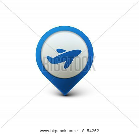 poster of vector glossy travel web icon design element.
