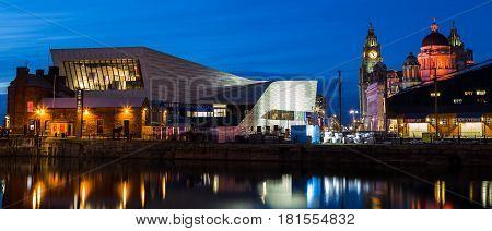 Pier Head Panorama During The Blue Hour
