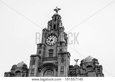 Liverbirds Above Liverpool