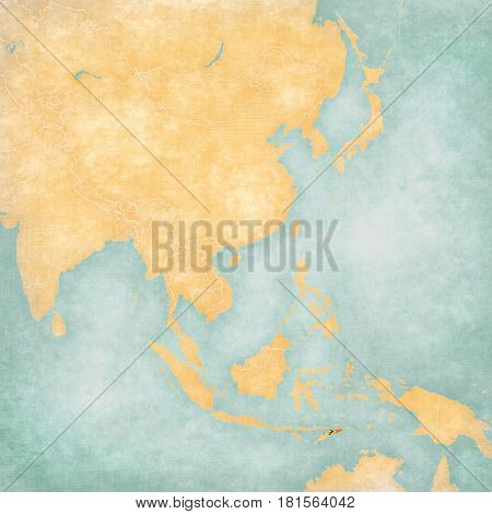 Map Of East Asia - East Timor
