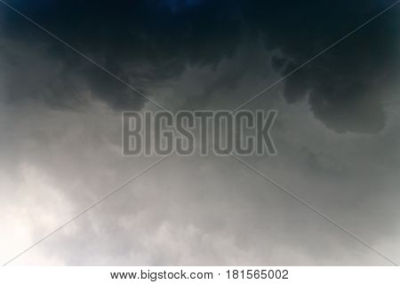 Thunderclouds dramatic storm cloud. Rain cloud abstract background.