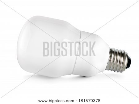 Energy saving compact fluorescent lightbulb isolated on white background