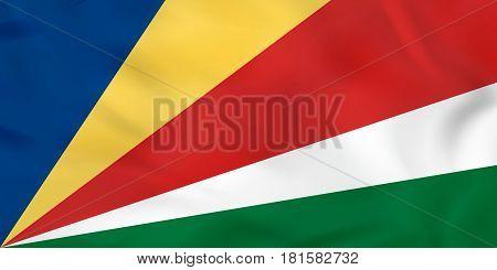 Seychelles Waving Flag. Seychelles National Flag Background Texture.
