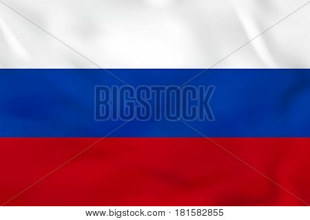 Russia Waving Flag. Russia National Flag Background Texture.