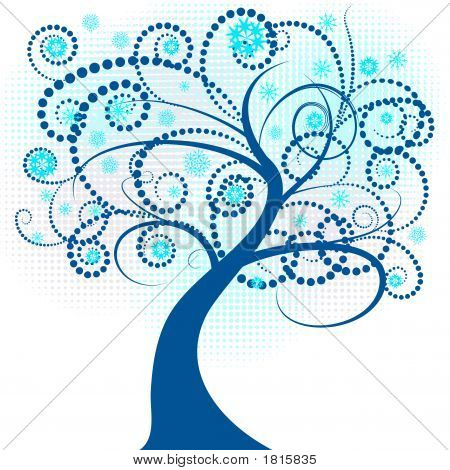 Abstract Winter Tree Design