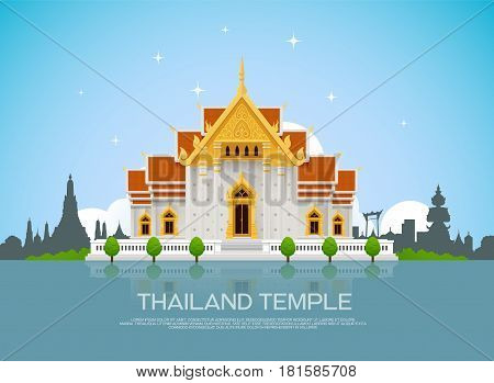 temple thailand thailand landmark and background bangkokvector