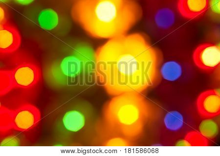 The photo shows a colorful light with a deliberately applied blur effect.