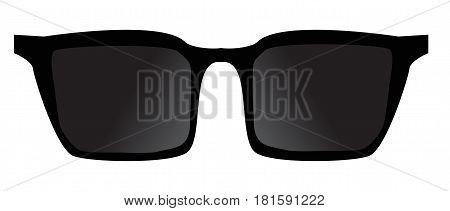 black glasses accessorie travel. black glasses sign.