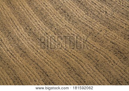 Abstract Background Agriculture Image Of A Ploughed Field
