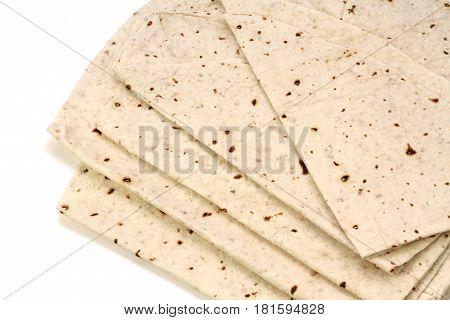 Traditional Turkish flatbread, Yufka Bread or philo dough bread -YUFKA EKMEK - Bread baked on sheet iron.
