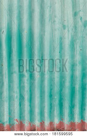 Rusted corrugated iron sheets background, close up