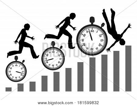 Losing the Rat Race. Woman who is pressed for time is at risk to face mental breakdown