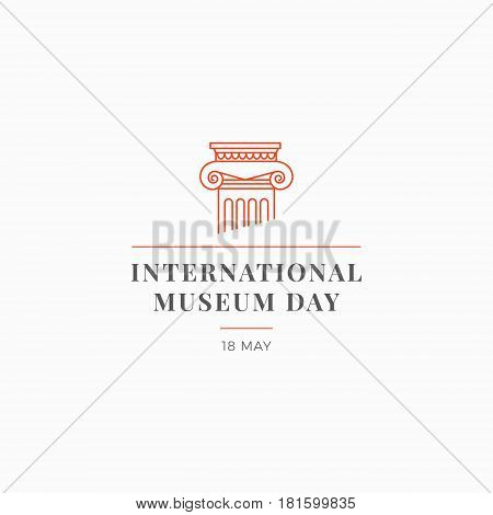 International Museum Day. Image architectural capital. Vector illustration on light background.