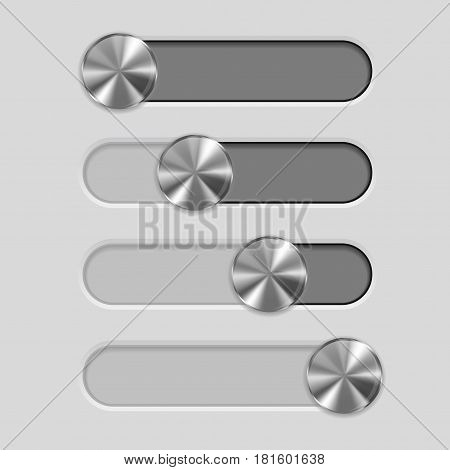 Web interface slider. User interface control bar. Vector illustration