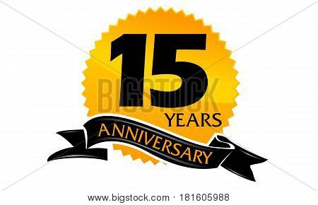15 Years Ribbon Anniversary Congratulation Ceremony Celebration