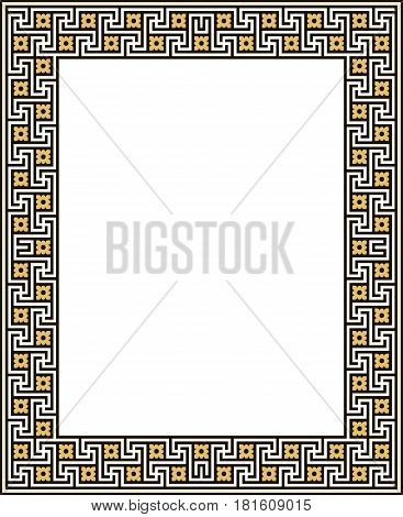 Geometric abstract in an Ancient Greek style