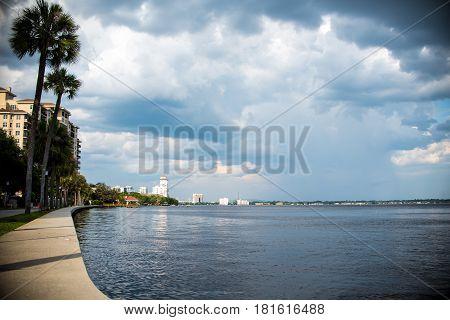 landscape over atlantic ocean from jacksonville florida