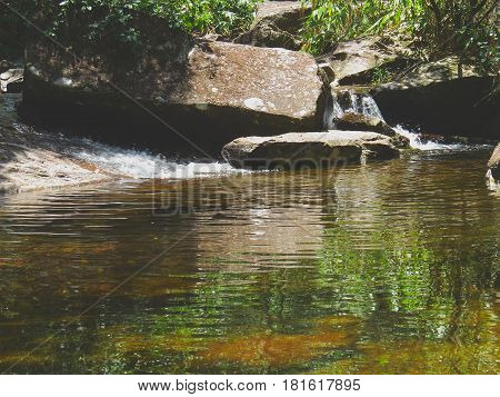 River originated in the mountains forming a beautiful landscape