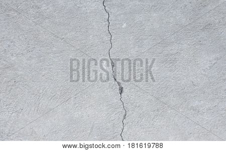 fracture on concrete footpath texture and background