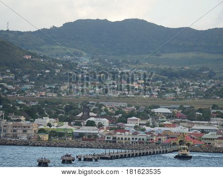 Basseterre Cruise Terminal, St. Kitts  View approaching the Basseterre Cruise Terminal of St. Kitts