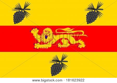 Flag of Landes is a department in southwestern France poster