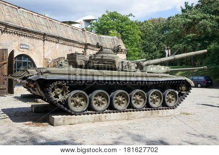 Military T-72 Tank Poland