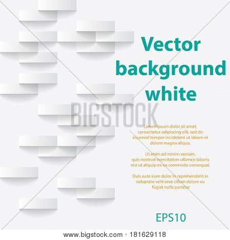 Abstract white background with sample text and shadows