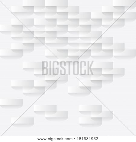 Abstarct white background with paper pieces and shadow