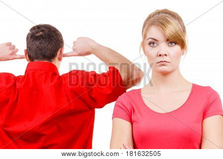 Couple Having Argument. Man And Woman In Disagreement