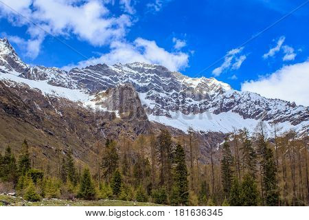 Four girls mountain is situated in Xiaojin county in the northwest of sichuan province China