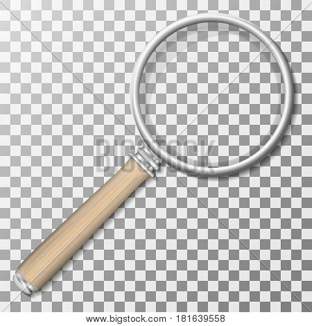 Magnifying Glass With Gradient Mesh Isolated on Transparent Background With Gradient Mesh Vector Illustration.