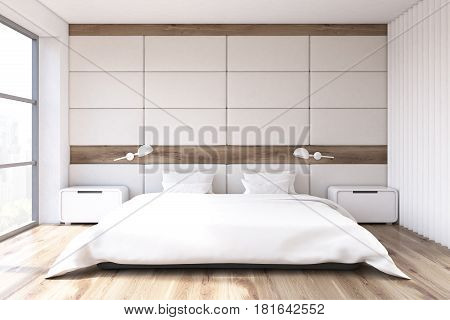 Bedroom With White Wall