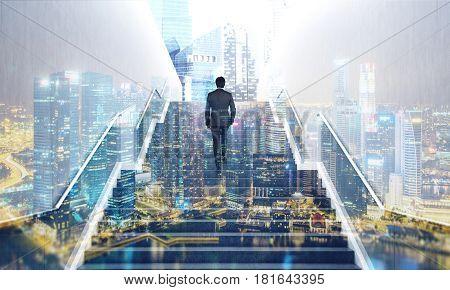 Man On Stairs, Night City