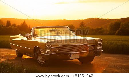 Classic Vintage Old American Cadillac Car Vehicle