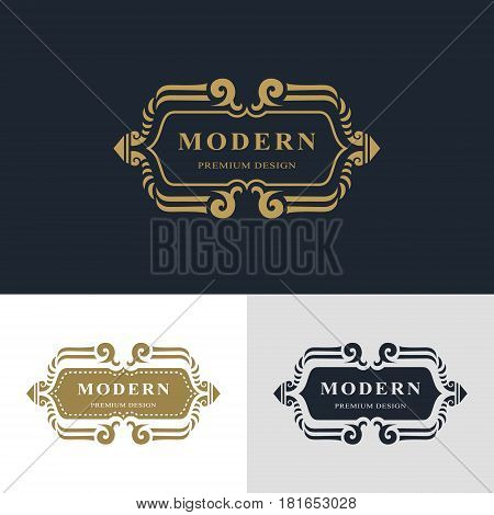 Monogram design elements graceful template. Calligraphic elegant line art logo design. Letter emblem sign for Royalty business card Boutique Hotel Heraldic Jewelry. Vector illustration