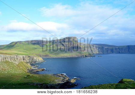 Gorgeous seascape from Neist Point on Skye in Scotland.