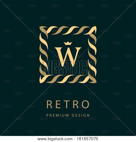 Modern logo design. Geometric monogram template. Letter emblem W. Mark of distinction. Universal business sign for brand name company business card badge. Vector illustration