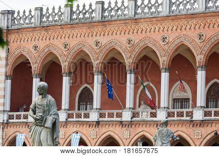 Lodge Amulea in the Great piazza of Prato della Valle also known as Ca' Duodo Palazzo Zacco in Padua Italy poster