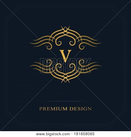 Modern logo design. Geometric initial monogram template. Letter emblem V. Mark of distinction. Universal business sign for brand name company business card badge. Vector illustration