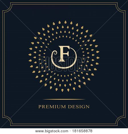 Modern logo design. Geometric initial monogram template. Letter emblem F. Mark of distinction. Universal business sign for brand name company business card badge. Vector illustration
