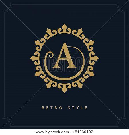 Modern logo design. Geometric initial monogram template. Letter emblem A. Mark of distinction. Universal business sign for brand name company business card badge. Vector illustration