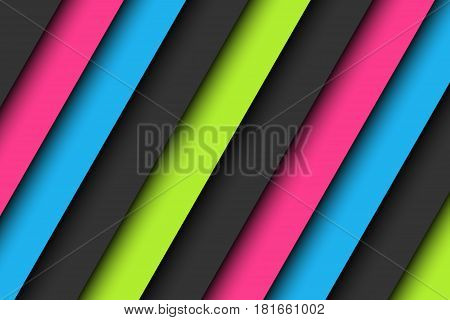 Abstract background in neon colors wallpaper with pink blue green and gray oblique lines vector illustration