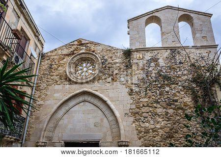John the Baptist Church on Ortygia isle Syracuse city Sicily Island in Italy