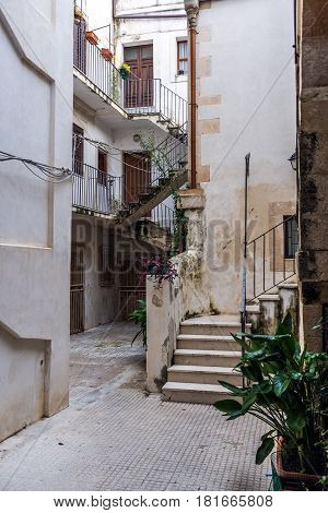 House on the old part of Syracuse - Ortygia isle Sicily Italy
