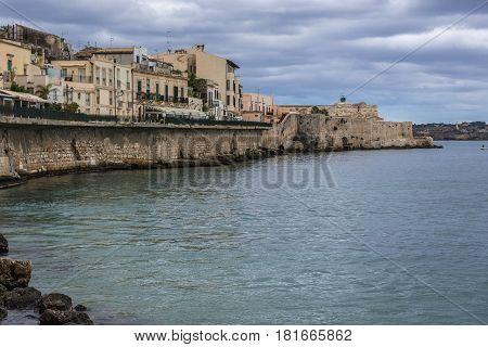 Old part of Syracuse - Ortygia isle Sicily Italy