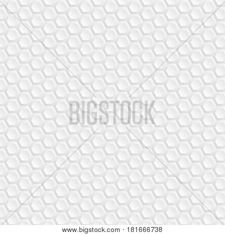 Hexagons. Background of white honeycombs. Bright and bright background for your work. Wallpapers for web sites. Monotonous colors from gray to white. Illustration for your projects.