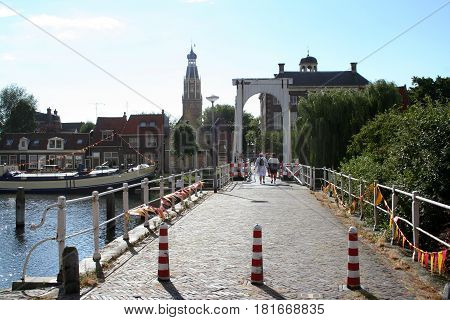 Streetview Of The Historic City Of Enkhuizen,